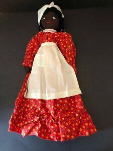 Vintage Black African American Cloth Rag Doll Primitive Folk Art Handmade Mammy