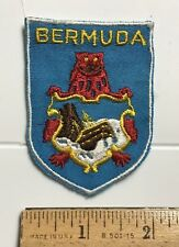 Bermuda Coat of arms Crest Red Lion Shipwreck Shield Souvenir Patch Badge