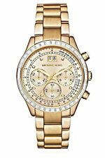 Michael Kors Brinkley Women's Gold Dial Chronograph MK6187 Watch