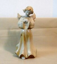 Sweet Ceramic Angel Statue, Walking and Holding Heart
