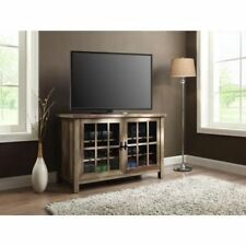 Wooden TV Stand Console 55 Inch Entertainment Center Media Glass Doors Cabinet