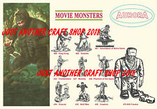 Aurora Models Movie Monsters King Kong Frankenstein Dracula 1964 Poster Advert