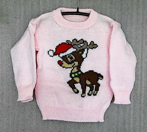 CHILDREN'S HAND-MADE CHRISTMAS JUMPER TO FIT: AGE 12 to 18mths