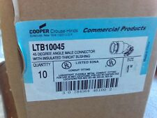 Box of 10 Cooper Crouse-Hinds Ltb10045 45 Degree Male Connector #1J-1734-Z14