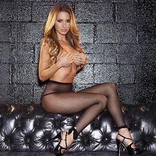 Sexy Leggings Collant senza piede Rete nero elasticizzati club wear dancer disco