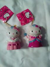 Kurt Adler Hello Kitty resin ornament-set of 2-New