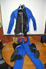 Unbranded Men's Wet Suit Diving Size Medium Long Top/Bottom/Gloves/Shoes 2 pair