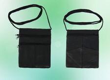 Tasche Brusttasche Brustbeutel Ausweistasche Echt Leder Schwarz 16 * 12 cm