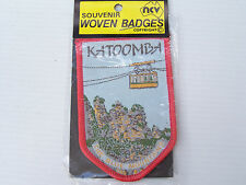 VINTAGE KATOOMBA NSW EMBROIDERED SOUVENIR PATCH WOVEN CLOTH SEW-ON BADGE
