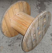 Kabeltrommel Holz Massivholz 70 cm Durchmesser Gartentisch Wohnzimmertisch (L)