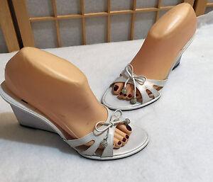 Stuart Weitzman Wedding Bridal Wedge Sandal Shoe Sexy Revealing 8 B