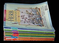 14 Herb Companion Magazines 1996-1999 includes 10th Anniversary Issue