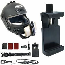 Adhesive Full Face Helmet Front Chin Mount for iphone Samsung Smart Cell Phone