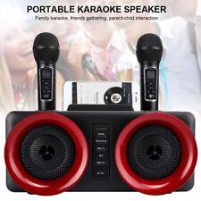 Wireless Bluetooth Speaker Family Karaokes System Singing Machine Dual Mic#