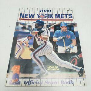 New York Mets 1989 Official Score Book, Shea Stadium, Flushing, NY