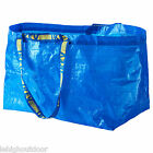 10 IKEA FRAKTA large blue reusable 19-gallon shopping/laundry/grocery/tote bag