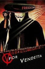 V FOR VENDETTA  ALAN MOORE NOVEL  A3 POSTER RE PRINT