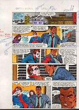 1983 Mike Zeck Captain America 282 page 11 original Marvel color guide art:Bucky Comic Art