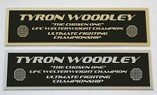 Tyron Woodley UFC nameplate for signed mma gloves photo or case