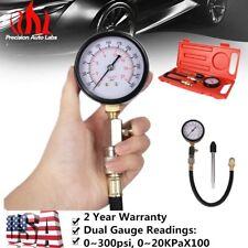 G-324 Gasoline Engine Cylinder Pressure Car Compression Gauge Tester 0-300 PSI