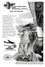AIR FRANCE Vintage US Magazine Advert 29 YEARS OF OVERWATER FLYING Paris 1960s