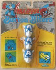 Vintage Marvel Comics Button Biters - Captain America BRAND NEW! 1991 MOC! LOOK!