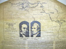 LEWIS AND CLARK EXPEDITION MAP HISTORICAL DOCUMENT CO 1983 IN PROTECTIVE TUBE