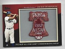 Jackie Robinson 2010 Topps 1952 All Starr Commemorative Patch Card Dodgers