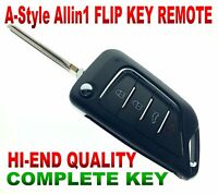 A-KEY STYLE FLIP REMOTE FOR 2003-07 CADILLAC CTS L2C0005T CHIP PK3+ KEYLESS FOB