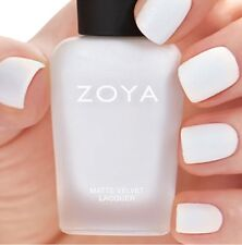 ZOYA ZP814 ASPEN MATTE VELVET Winter Holiday white w/ pearl matte nail polish