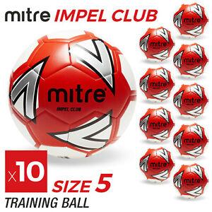 10 x Mitre Impel Club Footballs - Sizes 3, 4 & 5 - Brand New
