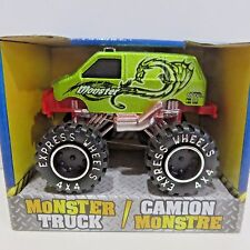 Monster Truck by Turbo Wheels, Diecast Toy Van - Green Monster, New in Box