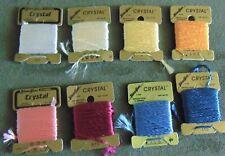 Vtg Glissen Gloss Glisten Gloss Crystal Blending Thread W Germany 5 Packs U Pick