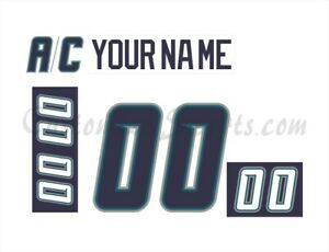 Pensacola Ice Pilots Customized Number Kit for 2002-2003 White Jersey
