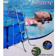 "BESTWAY SAFETY POOL STEEL LADDER 3 STEP 91CM 36"" 103CM 58334 FOR SWIMMING POOL"