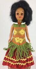 """Vintage Hawaii HAWAIIAN GIRL Doll Open Close Eye WAIKIKI HULA DANCER 8"""" Pristine"""
