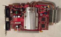 MSI Radeon HD 2600XT 800MHz 256MB 128bit Dual DVI PCI E Video Graphics Card Ex