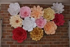 Paper Flower Backdrop Wall Handmade Big Flower Decor Wedding Room Party Birthday