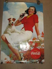 Affiche COCA COLA PIN UP 1998 , 92 x 61 cm, look vintage
