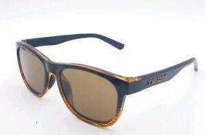 Tifosi Womens Brown and Black Striped Square 58×15-136 Sunglasses # 2632