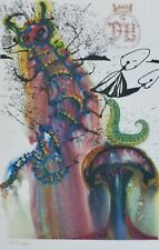 SALVADOR DALI ALICE IN WONDERLAND Advice from a Caterpillar SIGNED HAND NUMBERED