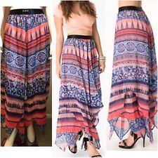 Bebe Print Handkerchief Skirt Size S