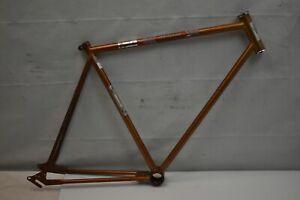 1972 Mossberg Vintage Touring Road Bike Frame 59cm Large Orange Steel US Charity