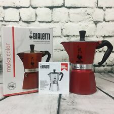 Bialetti Luxury Barrista Style 6-Cup Espresso Percolator Coffee Maker,Red 06905