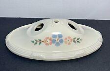Vintage Porcelier Porcelain 2-Bulb Flush Ceiling Light Fixture