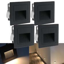 1-10er LED Wandeinbauleuchte Stufe Treppenlicht Beleuchtung Lampe aussen schwarz