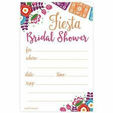 """Fiesta Bridal Shower Invitations - Fill Style (20 Count) With Envelopes Health """""""