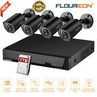 FLOUREON 8CH 1080N CCTV DVR 3000TVL HD Outdoor Home Security Camera System 1TB