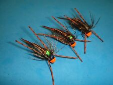 SPICY MOSS leeches- Weighted trout and bass High durability Size 6-