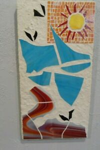 """Stained Glass Mosaic Picture """" Florida Summer"""""""